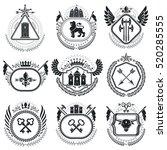 old style heraldry  heraldic... | Shutterstock .eps vector #520285555