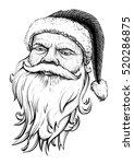 Santa Claus Head. Vector...