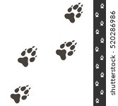 wolf footprints. vector... | Shutterstock .eps vector #520286986