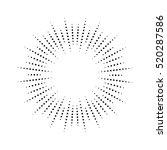 halftone effect vector... | Shutterstock .eps vector #520287586