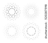halftone effect vector...   Shutterstock .eps vector #520287598