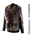 fur vest on a white background  | Shutterstock . vector #520288006