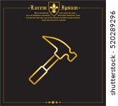 web line icon. hammer | Shutterstock .eps vector #520289296