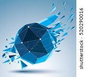3d vector digital wireframe... | Shutterstock .eps vector #520290016