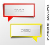 colloquial cloud vector banner. ... | Shutterstock .eps vector #520292986