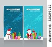 christmas card  | Shutterstock .eps vector #520295212
