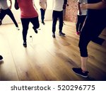 diversity people exercise class ...   Shutterstock . vector #520296775