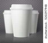 illustration of vector coffee... | Shutterstock .eps vector #520297948