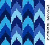 ethnic seamless blue striped...   Shutterstock .eps vector #520300126