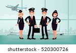 aircraft personnel. the crew of ... | Shutterstock .eps vector #520300726