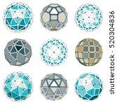 set of vector dimensional... | Shutterstock .eps vector #520304836