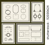 decorative vector frame set ...
