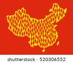 silhouette of china with symbol ...   Shutterstock .eps vector #520306552