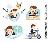 vector illustration funny... | Shutterstock .eps vector #520310326