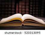 book open old  wisdom desk read ... | Shutterstock . vector #520313095