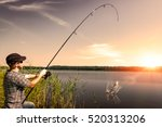 Fishing Rod Lake Fisherman Men...