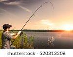 Fishing Rod Lake Fisherman Men...