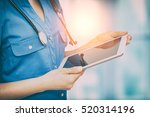 doctor digital tablet clinic... | Shutterstock . vector #520314196