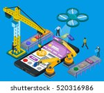 developing mobile applications... | Shutterstock . vector #520316986