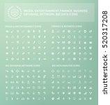 big icon set design clean vector | Shutterstock .eps vector #520317208
