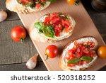 italian tomato and cheese... | Shutterstock . vector #520318252