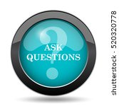 ask questions icon. ask... | Shutterstock . vector #520320778