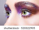 closeup shot of female green... | Shutterstock . vector #520322905