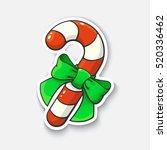 vector illustration. christmas... | Shutterstock .eps vector #520336462