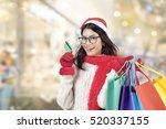 Happy Girl Shopping Christmas...