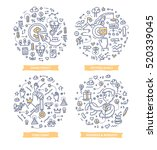 doodle vector illustrations of... | Shutterstock .eps vector #520339045