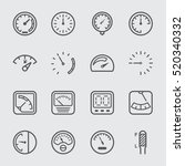 gage and meter line icon | Shutterstock .eps vector #520340332