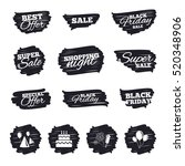 ink brush sale stripes and... | Shutterstock .eps vector #520348906
