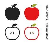 icons of apples set illustration | Shutterstock .eps vector #520350988