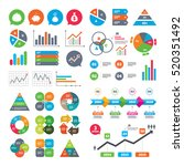 business charts. growth graph.... | Shutterstock .eps vector #520351492