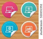 round stickers or website... | Shutterstock .eps vector #520351552