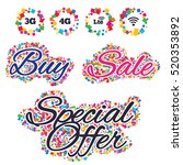 sale confetti labels and... | Shutterstock .eps vector #520353892