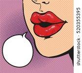 pop art retro comic style...   Shutterstock .eps vector #520355395