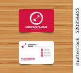 business card template with... | Shutterstock .eps vector #520356622