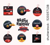 black friday sale website... | Shutterstock .eps vector #520357138