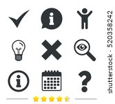 information icons. delete and... | Shutterstock .eps vector #520358242