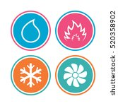 hvac icons. heating ... | Shutterstock .eps vector #520358902
