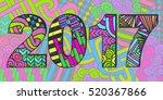 new year 2017 background....   Shutterstock .eps vector #520367866
