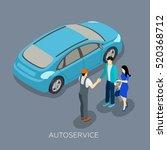 auto repair service mechanic... | Shutterstock . vector #520368712