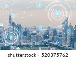 icons of wifi  internet ... | Shutterstock . vector #520375762