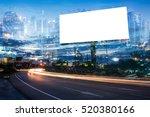 double exposure of blank... | Shutterstock . vector #520380166