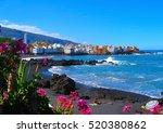 playa jardin puerto de la cruz  ... | Shutterstock . vector #520380862