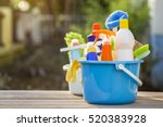 house cleaning product on the... | Shutterstock . vector #520383928