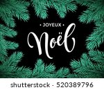 french merry christmas joyeux... | Shutterstock .eps vector #520389796