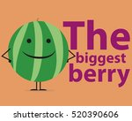 melon on the background of the... | Shutterstock .eps vector #520390606