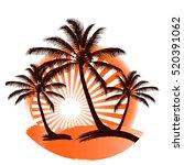 Grunge Tropical Summer Print...